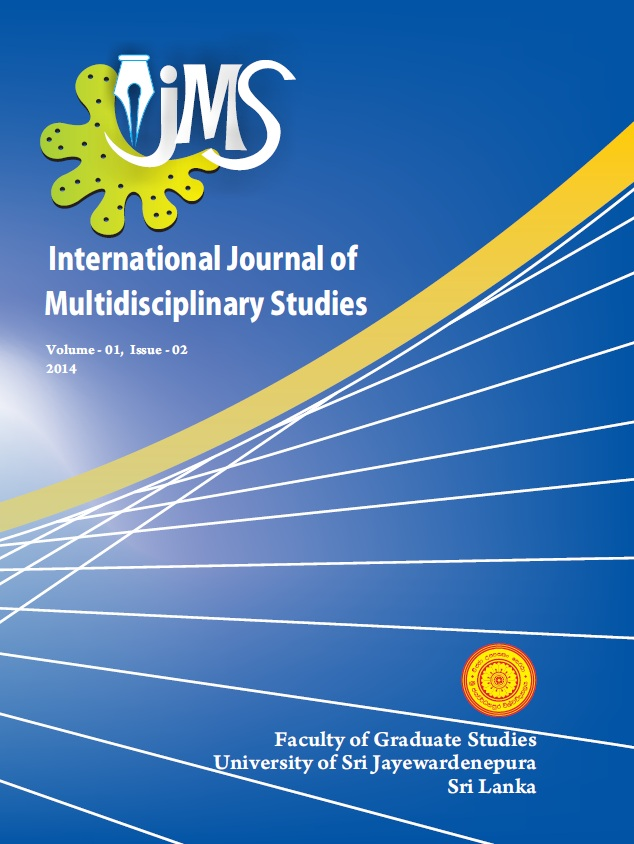 International Journal of Multidisciplinary Studies