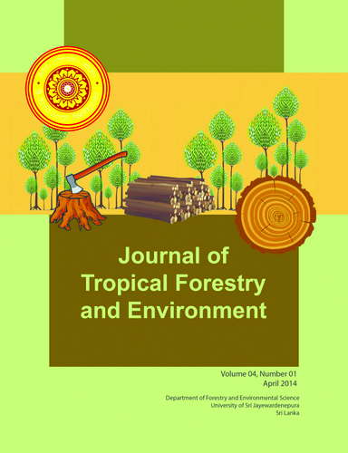Journal of Tropical Forestry and Environment, Vol 4(1) 2014