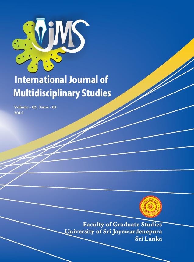 International Journal of Multidisciplinary Studies Volume 2 Issue 1