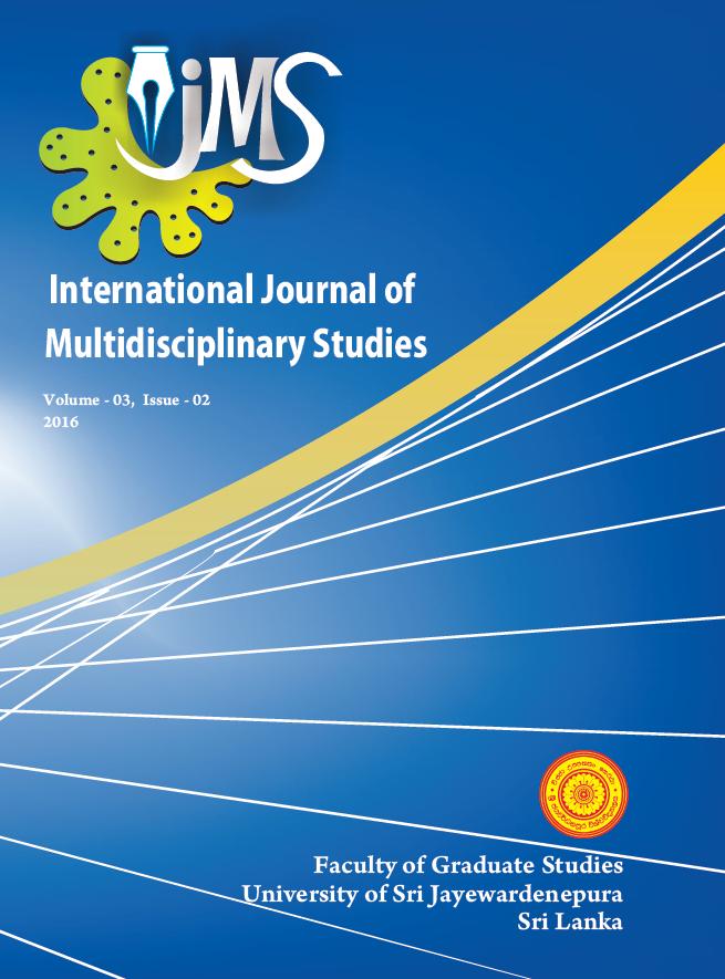 International Journal of Multidisciplinary Studies