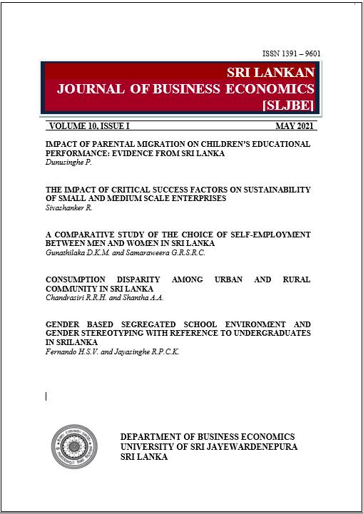 Sri Lankan Journal of Business Economics