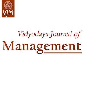 View Vol. 7 No. 1 (2021): Vidyodaya Journal of Management