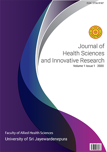 View Vol. 1 (2020): Journal of Health Sciences and Innovative Research