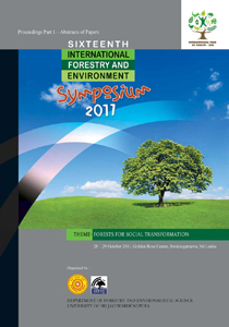 16th International Forestry and Environment Symposium 2011