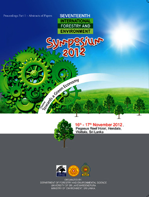 View Vol. 17 (2012): Proceedings of 17th International Forestry and Environment Symposium 2012
