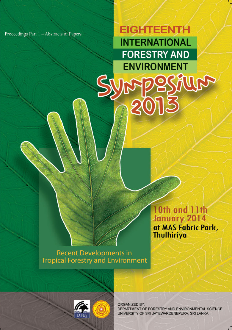 View Vol. 18 (2013): 18th International Forestry and Environment Symposium 2013